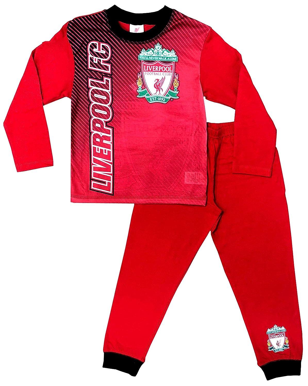 Liverpool F.C. Pijama Oficial para niños de 4 a 12 años Rojo Rosso ...