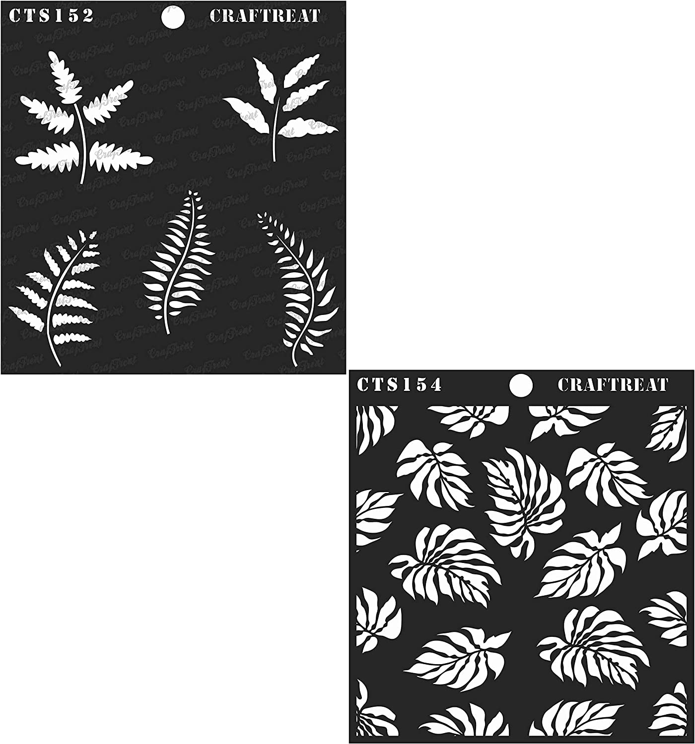 Floor Fabric Foliage1 /& Bamboo Forest Wall DIY Albums Wood 6X6 Crafting CrafTreat Stencil Tile 2 pcs | Reusable Painting Template for Home Decor Scrapbook and Printing on Paper