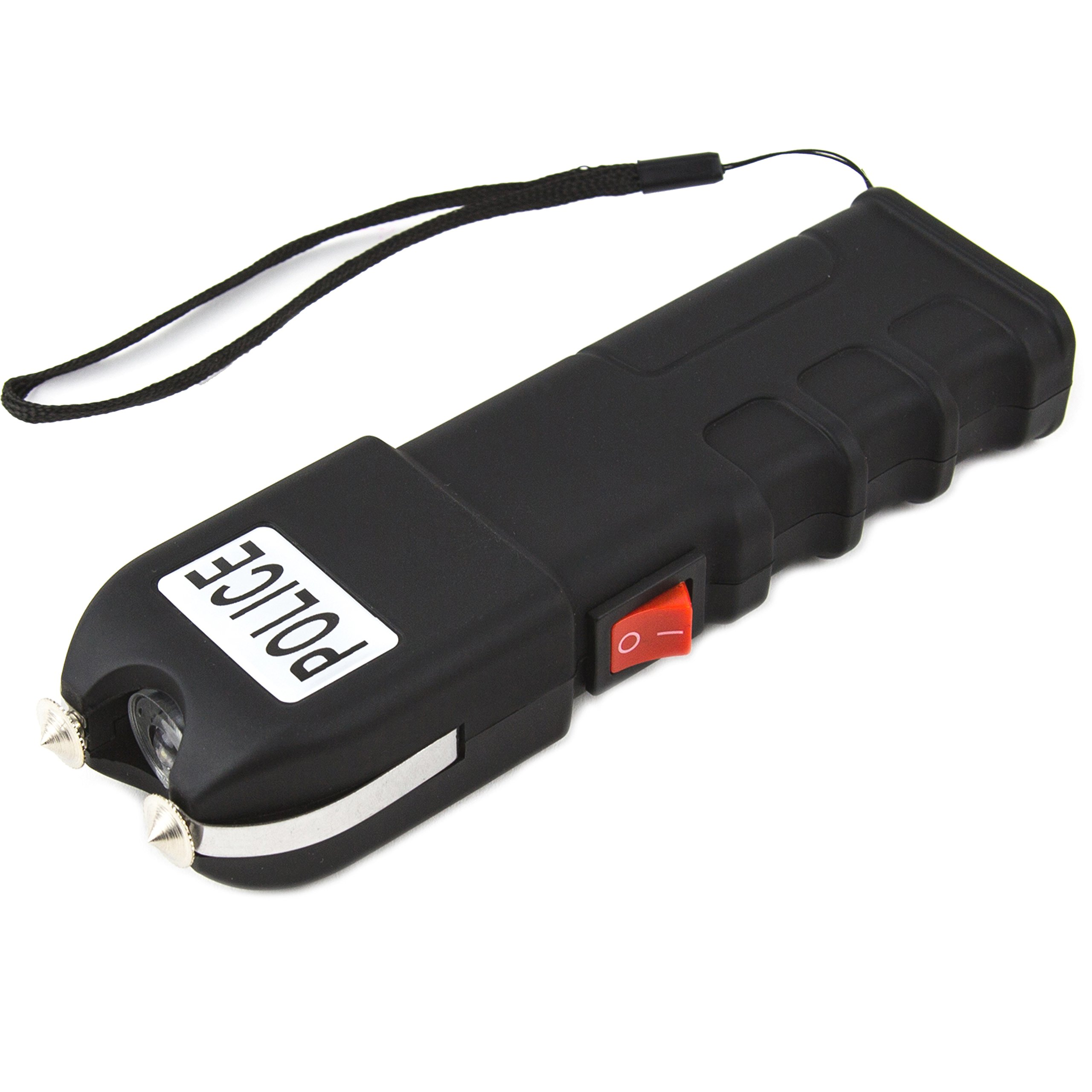 Police 928 - Max Voltage Heavy Duty Stun Gun - Rechargeable With LED Flashlight and Case