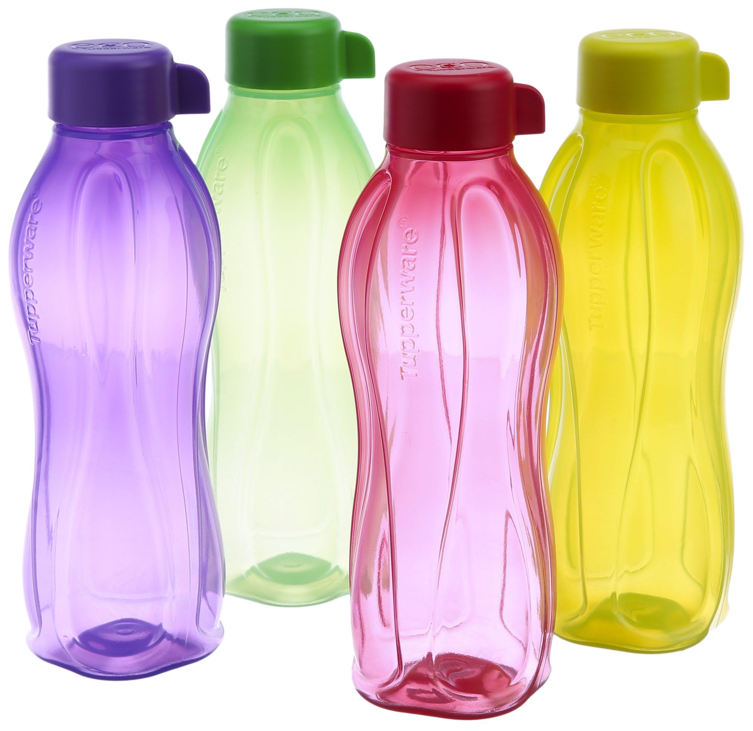 Tupperware Aquasafe Water Bottle Set, 500ml, Set of 4 (B.5L) Colors May Vary