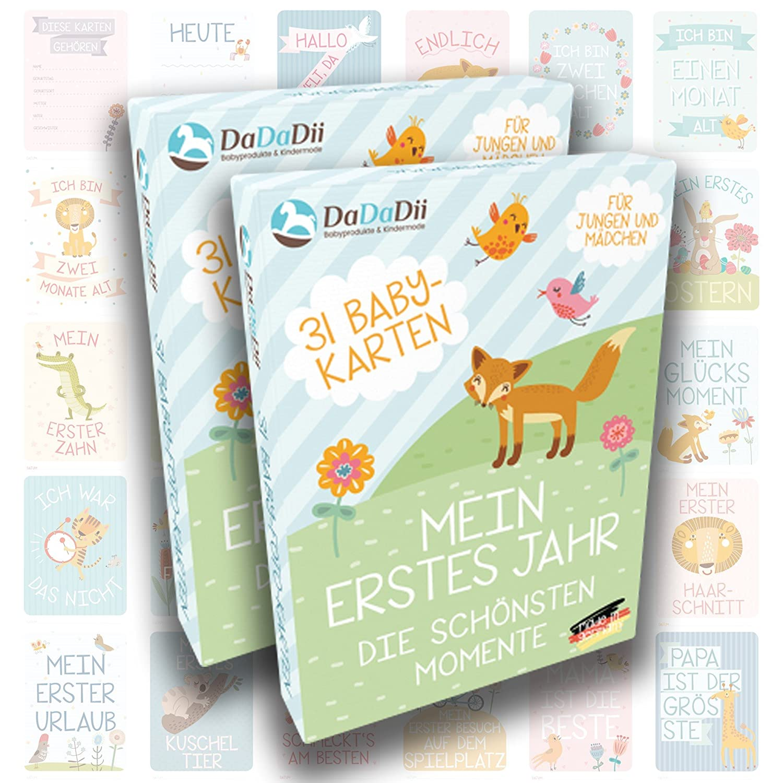 - Deutsch Baby Milestone Cards Zwillinge 31 Meilensteinkarten von der Geburt bis zum ersten Lebensjahr Hallo Jungen /& M/ädchen Ein tolles Geschenk zur Schwangerschaft f/ür die Familie Zwillinge