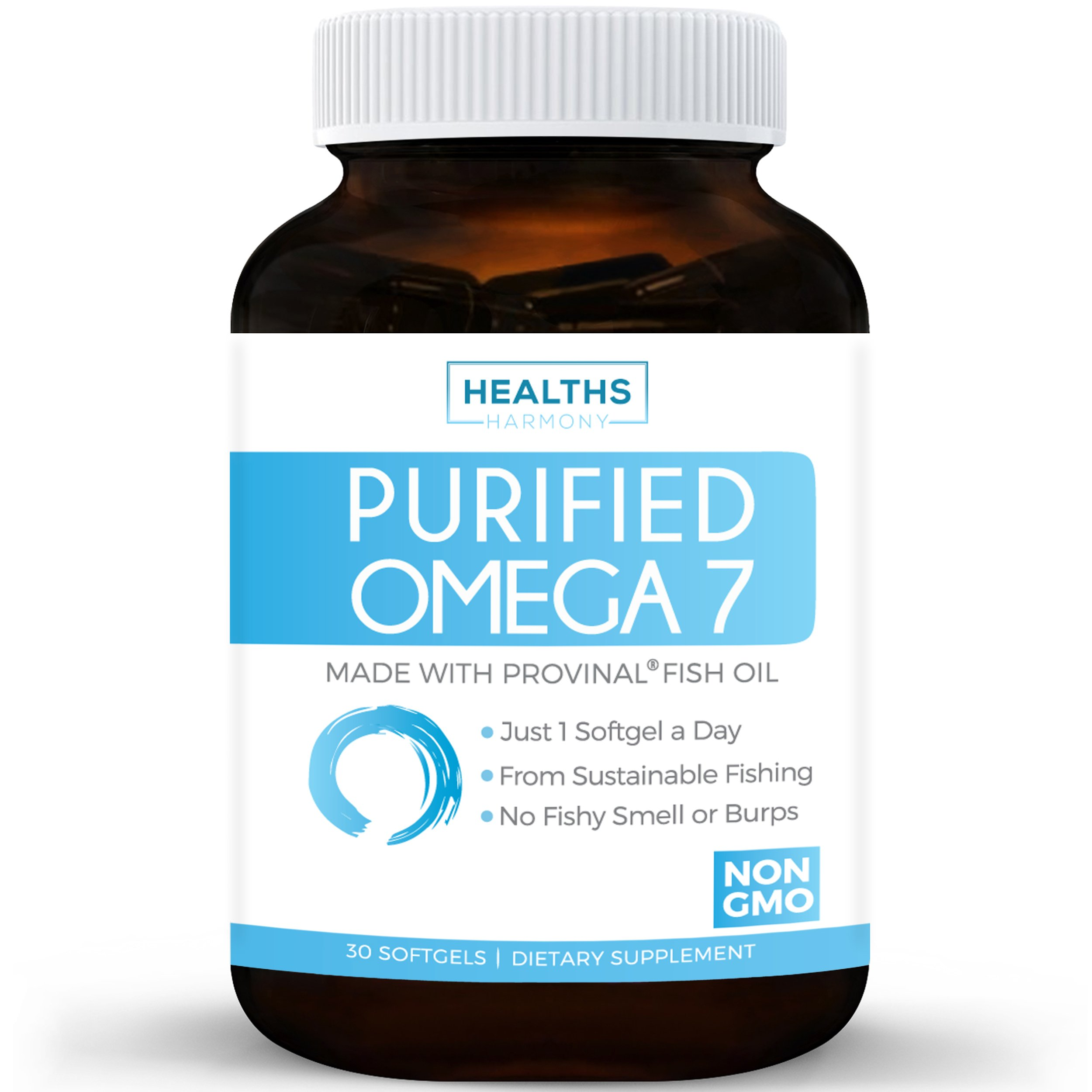 Best Purified Omega 7 Oil - Provinal Omega 7 (NON-GMO) All The Palmitoleic Acid EE Your Body Needs – High Potency One Month Supply - 100% Money Back Guarantee - Made From Peruvian Anchovy Fish
