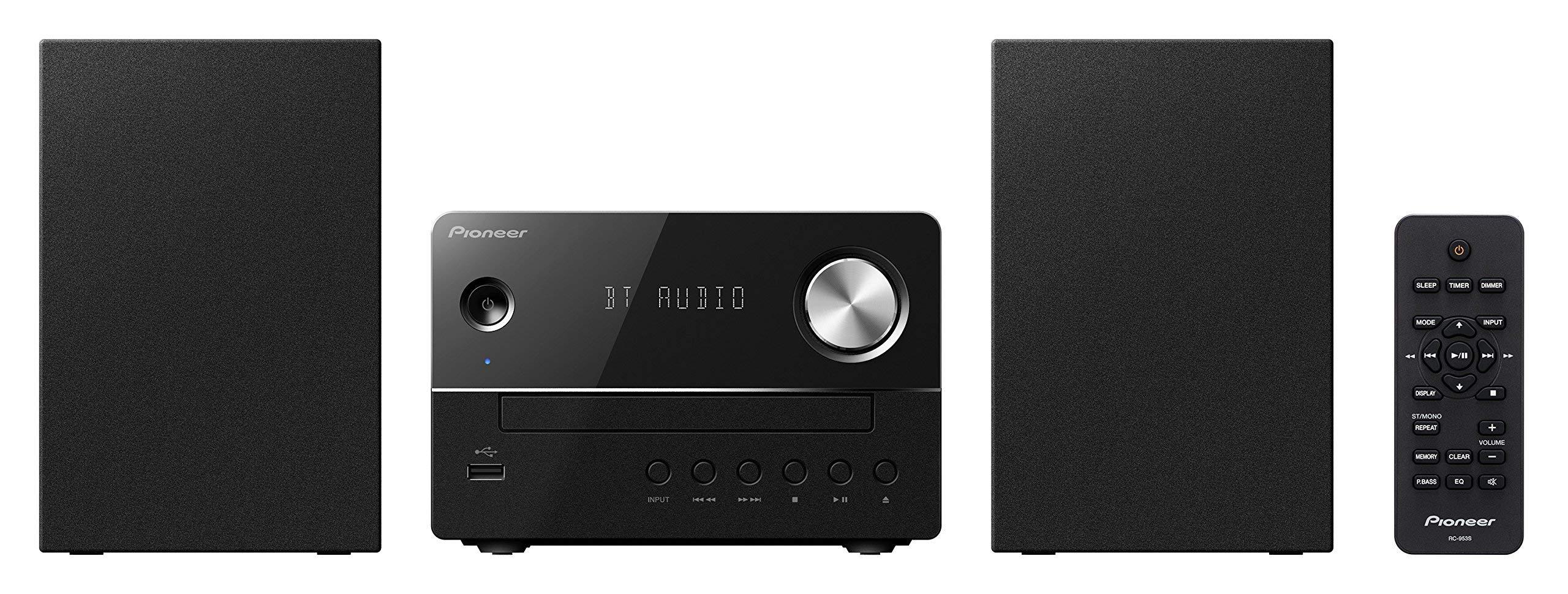 Pioneer - 10W Main Unit and Speaker System Combo Set - Black - X-EM26 (Renewed)