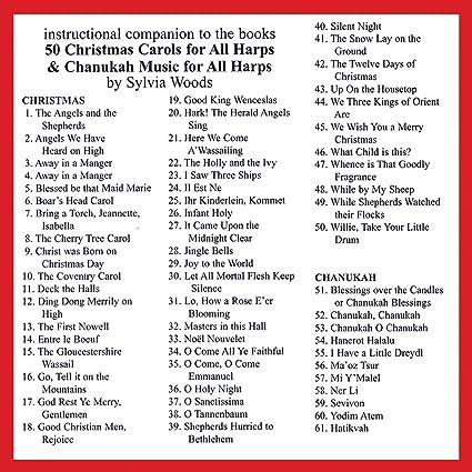 Amazon 50 Christmas Carols For All Harps Companion Cd To The