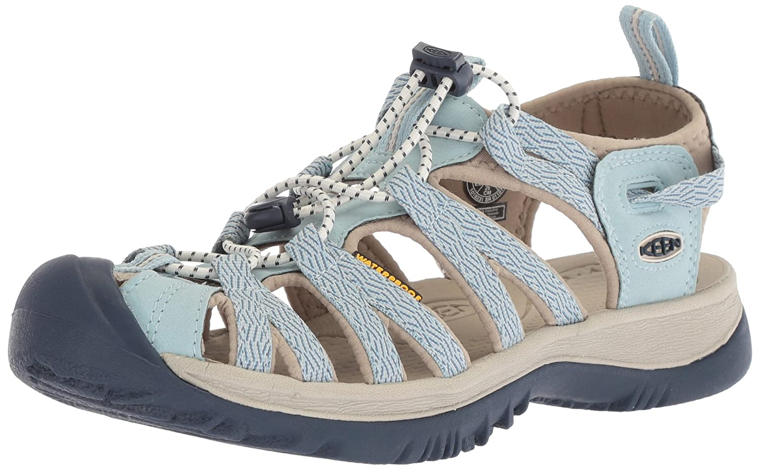 KEEN Women's Whisper-w Sandal B071DFKKLC 8 B(M) US|Sterling Blue/Dress Blue