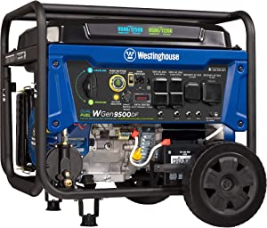 Westinghouse WGen9500DF Dual Fuel Portable Generator-9500 Rated 12500 Peak