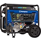 Westinghouse WGen9500DF Dual Fuel Portable Generator-9500 Rated 12500 Peak Watts Gas or Propane Powered - Electric Start - Transfer Switch & RV Ready, CARB Compliant