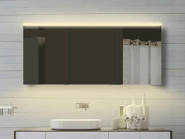 Lux aqua alu badezimmer spiegelschrank mit beleuchtung in for Hochwertiger spiegelschrank bad