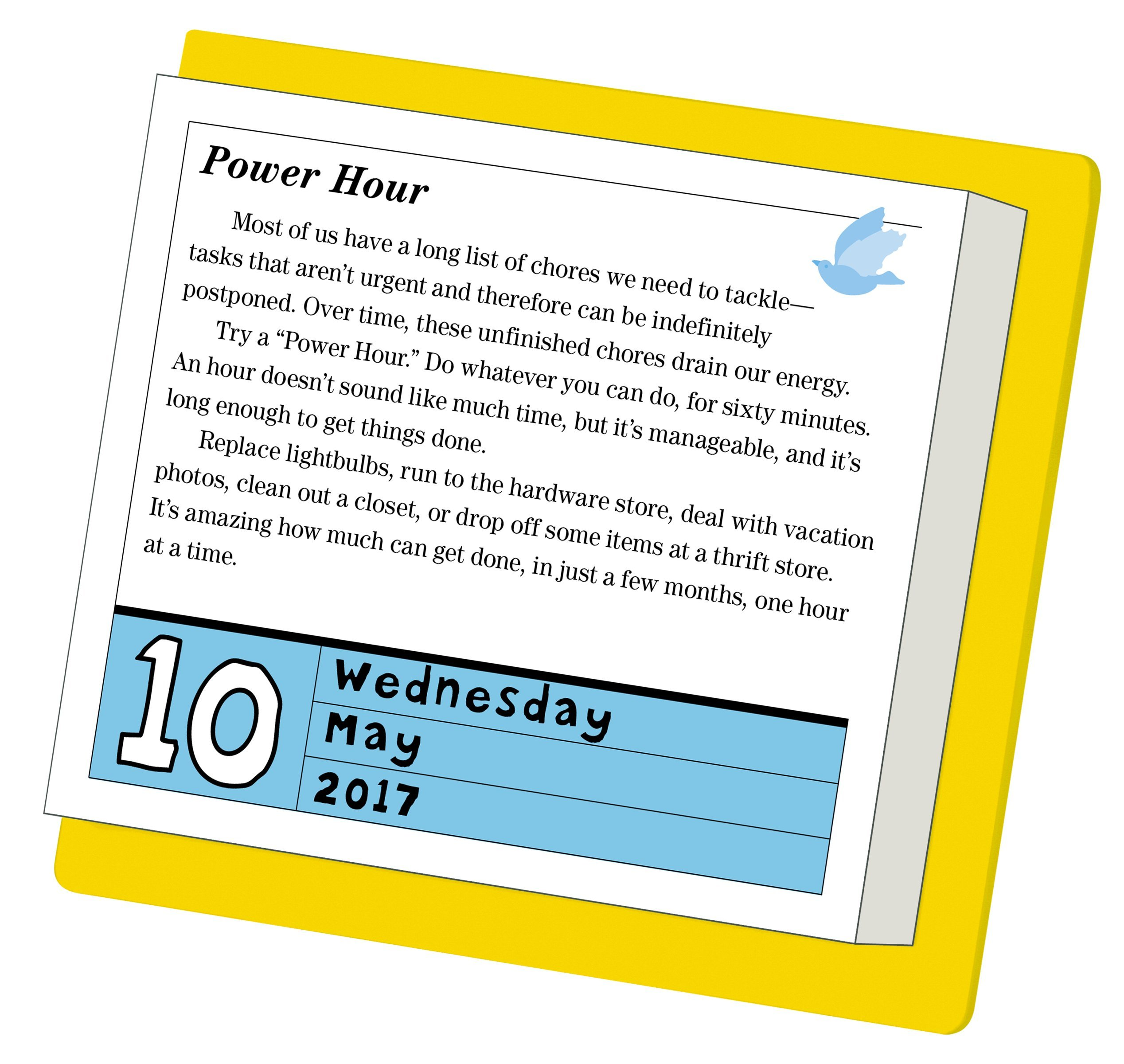 picture regarding Page a Day Calendar named A Happier 2017 Site-A-Working day Calendar: Gretchen Rubin