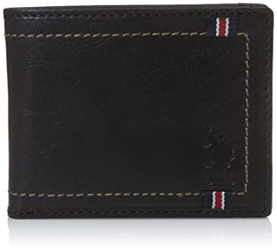 7773fb312e54 US Polo Association Black Men s Wallet (USAW0556)  Amazon.in  Bags ...