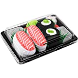 SUSHI SOCKS BOX 2 pairs Salmon Cucumber Maki Unisex FUNNY GIFT! Made in Europe