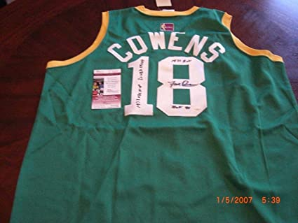 timeless design 4fb25 551d6 Dave Cowens Autographed Jersey - coa Throwback - JSA ...