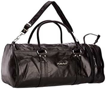 15ee652eb7 FunkyTravelbags NEW Mens Ladies Black Head Retro Monte Carlo Leather Look  Sports Gym Travel Holdall  Amazon.co.uk  Sports   Outdoors
