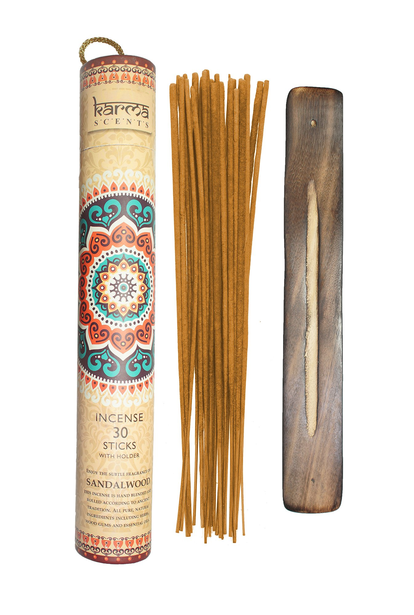 Premium Sandalwood Incense Sticks 5 Set Gift Pack with a Holder In Each Box, Includes 150 Sticks and Five Incense Burners by Karma Scents (Image #4)