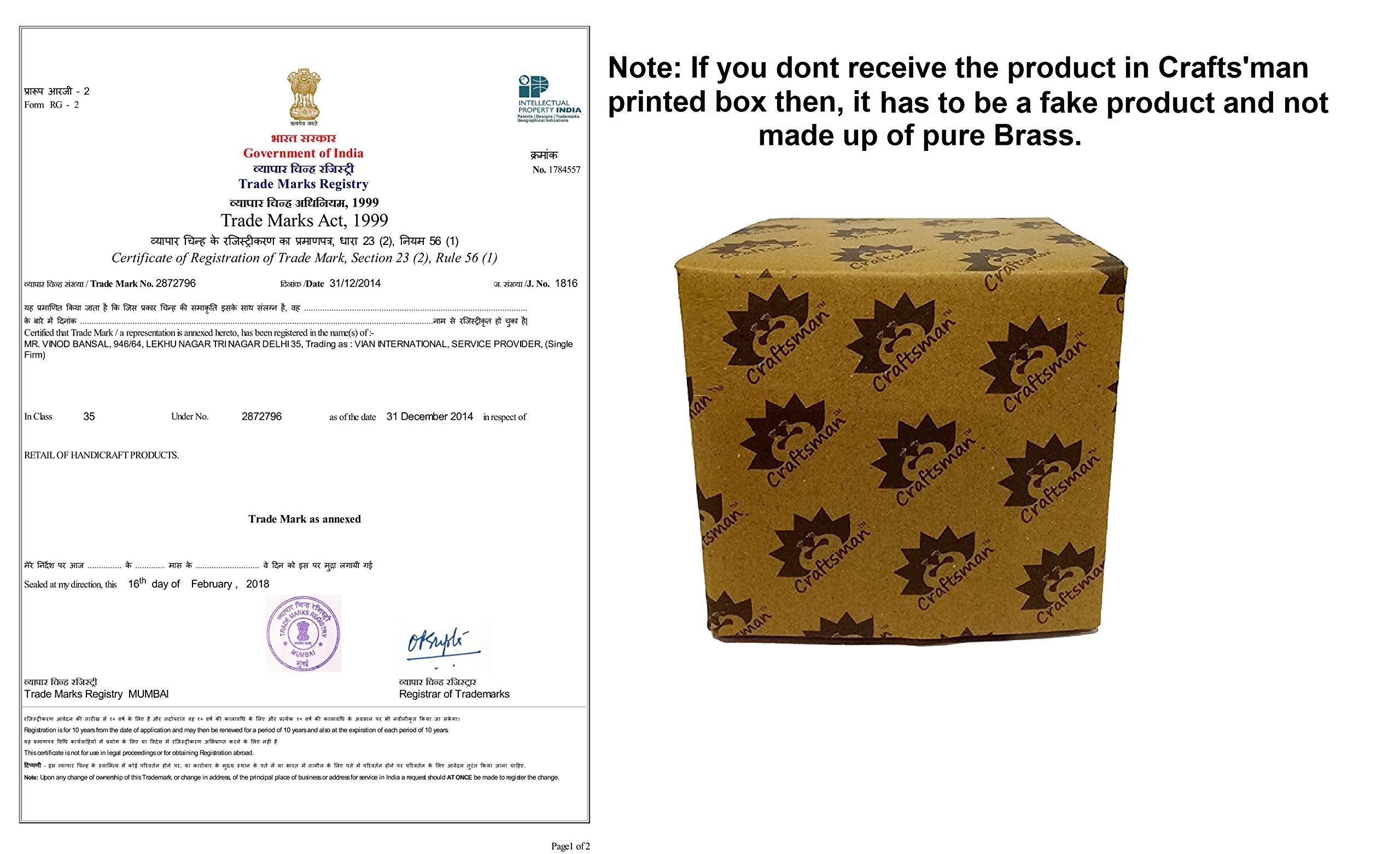 KUBER Diya. Pure Virgin Brass Diwali Puja Diya Set of 10 Piece Indian Pooja Oil Lamp Dia. 2.5 Inch Deepawali Diya/Oil Lamp/CandleTea Light Holder/Diwali Decoration/Christmas Decoration