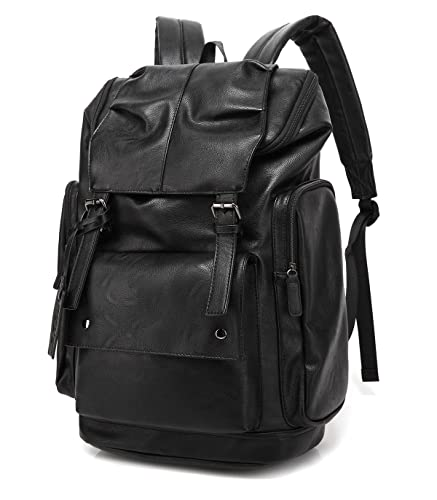 a7eed3cbafbc Amazon.com  BAOSHA BP-16 PU Leather Casual Backpack College Backpack ...