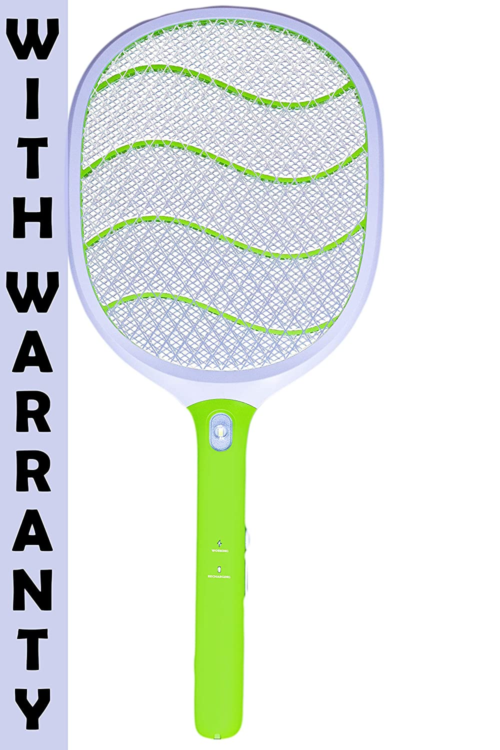 Weird Wolf (Formerly Viola) Heavy Duty Mosquito Bug Zapper Killer Racquet Bat with Powerful Battery and 6 Month Warranty - Mosquito Bat