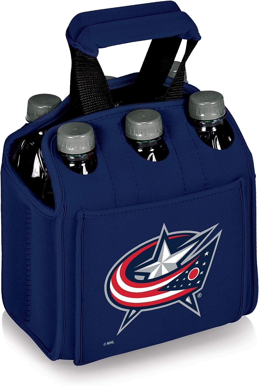 PICNIC TIME NHL コロンバス ブルージャケット 6枚パック 断熱ネオプレン 飲料用トート