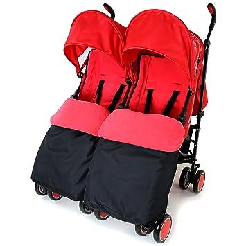 Zeta Citi doble silla de paseo Buggy carrito - cálido rojo doble ...