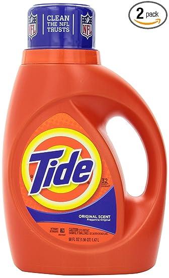 Tide Original Scent Liquid Laundry Detergent 50 Fl Oz 2 Count