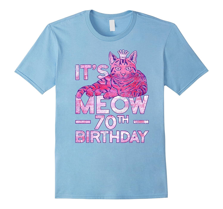 Cute Queen Kitty Cat 70th Birthday Shirt Women 70 Years Tee Gm