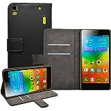 """Membrane - Noir Portefeuille Etui Coque Lenovo K3 Note (K50-t5) 5.5"""" - Wallet Case Housse + 2 Protections d'écran"""