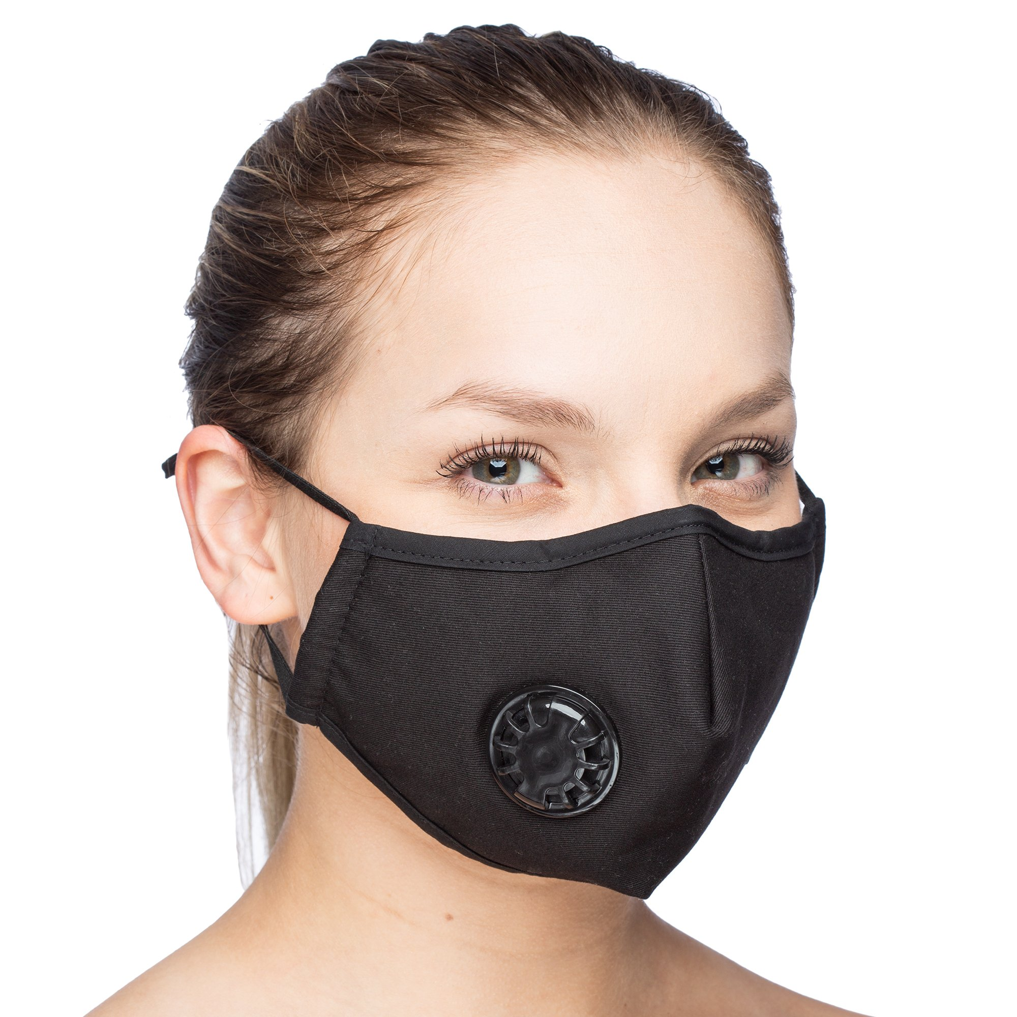 Debrief Me Dust Mask Anti Pollution Breathable Respirator Mask (1 Mask + 6 Filters) Military N99 Flu Mask Carbon Activated Filtration - Reusable Washable Comfy Cotton Adjustable (Black) by Debrief Me