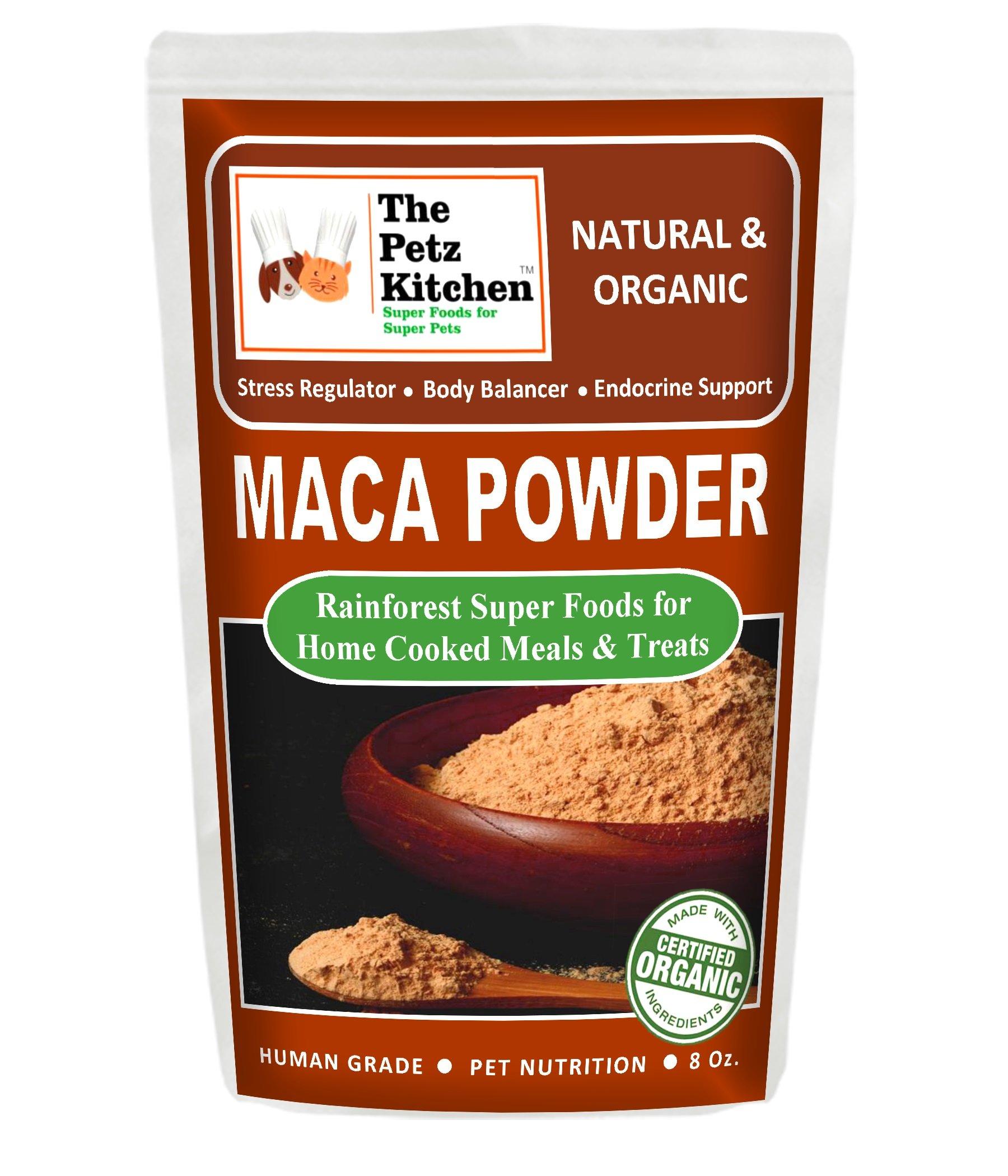 The Petz Kitchen by Natura Petz Organics PKITCHMACA8OZ Maca Organic & Human Grade Nutritional Treat, 8 oz