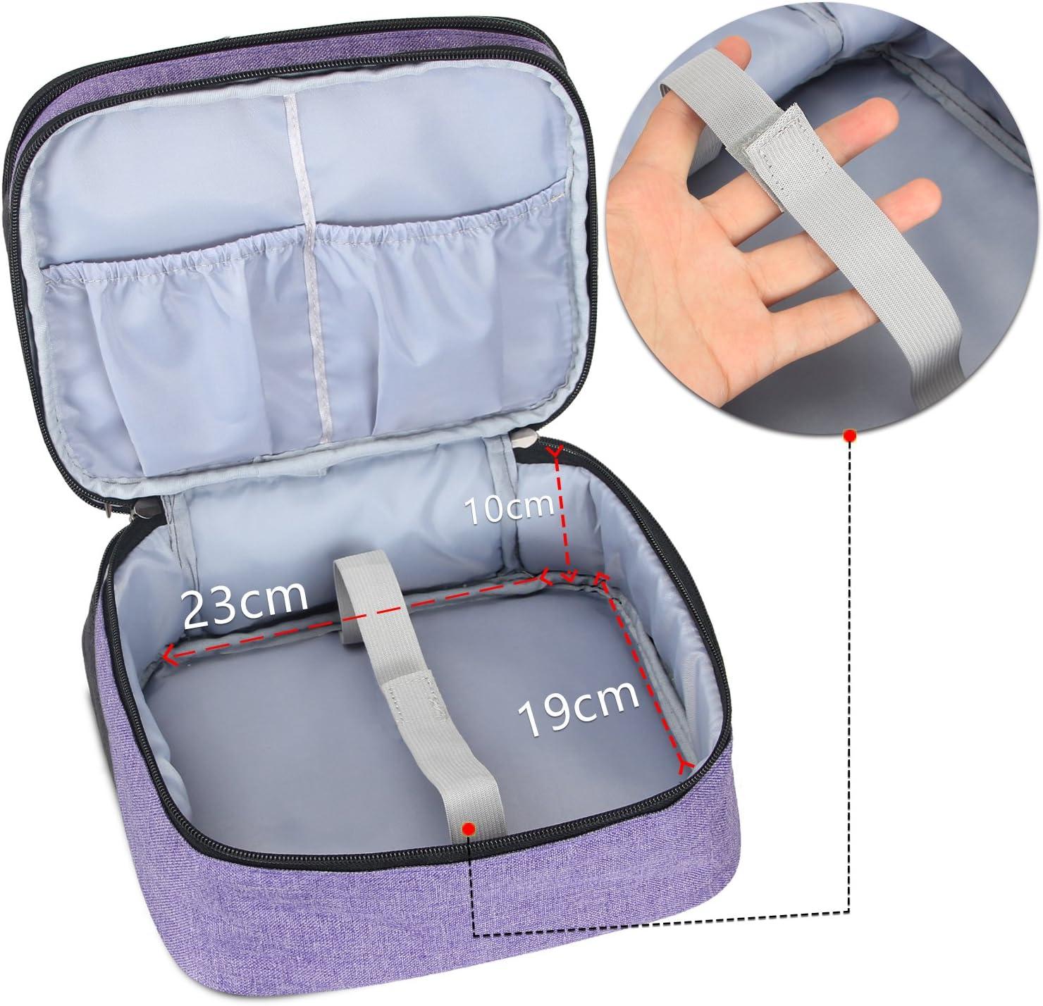 Luxja Sac pour Mini Projecteur XuanPad DR.Q Pruple Sacoche pour Mini Videoprojecteur et Accessoires APEMAN et QKK 23 CM x 19 CM x 10 CM