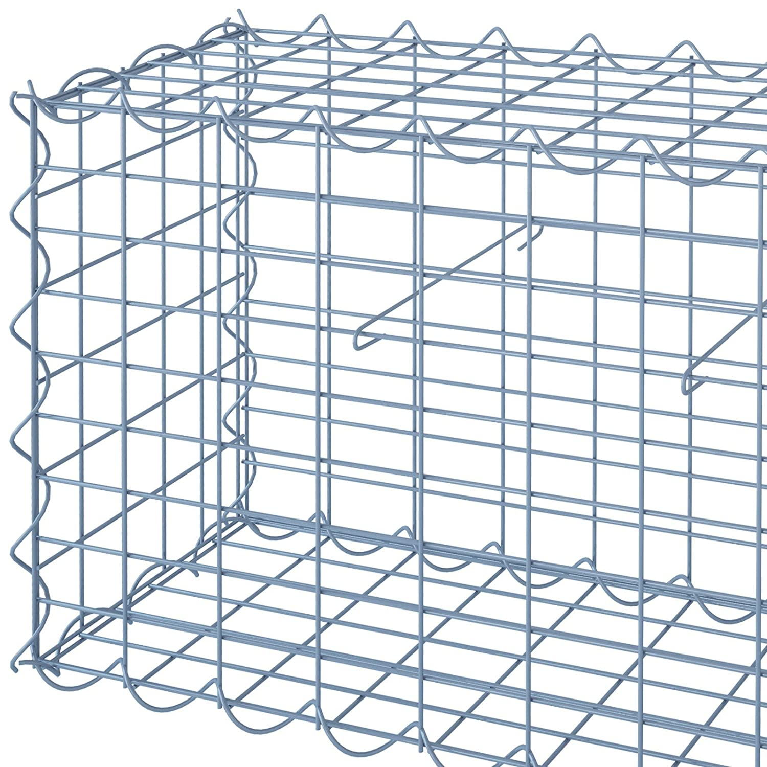 Jago Gabion Basket 4 mm Galvanized Iron Wire Welded Mesh Cage for ...