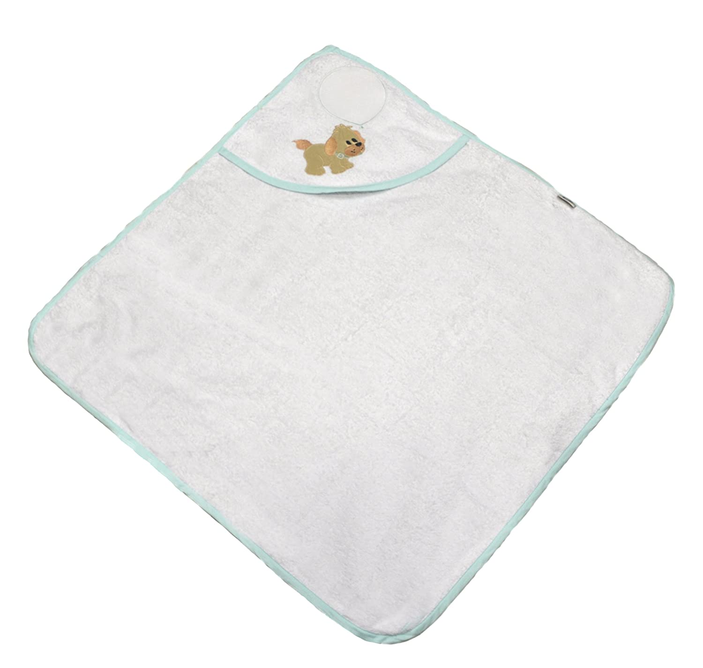 Albornoz para bebé de rizo algodón tela aida para bordar a punto de cruz 70 x 70 cm M verde agua: Amazon.es: Bebé