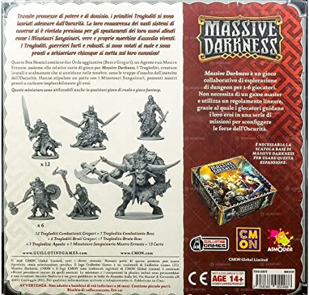 Asmodee Italia- Massive Darkness Trogloditi expansión Juego de Mesa, Color, 10101: Amazon.es: Juguetes y juegos