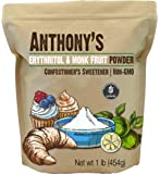 Anthony's Erythritol and Monk Fruit Powder Classic Powder, 1 lb, 2 to 1 Powdered Sugar Substitute, Confectioner's…