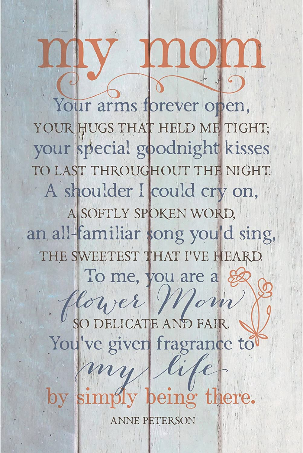 """My Mom Wood Plaque Inspiring Quote 6""""x9"""" - Classy Vertical Frame Wall & Tabletop Decoration 