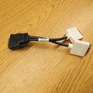 Generic Brand for Dell H9361 BIZ Molex DMS-59 (2) DVI Female to (1) Male Splitter Connection