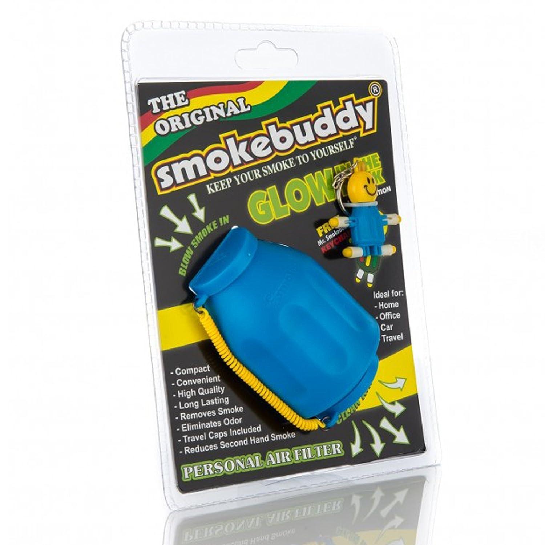 Smoke Buddy Glow Blue Original Personal Air Filter Smokebuddy 0420-GBO