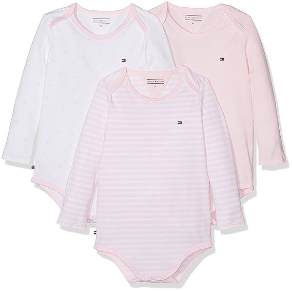 b1ae52c94 Tommy Hilfiger Girls' Body Baby 3 Pack Bodysuit, Pink (Ballerina 612), 68:  Amazon.co.uk: Clothing