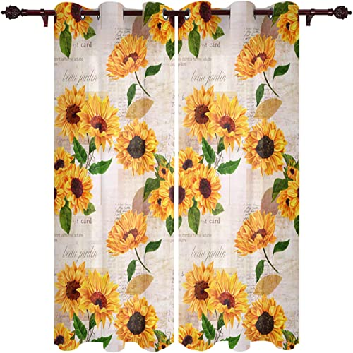 Edwiinsa Kitchen Curtains Window Drapes Treatment