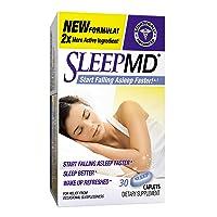 Sleep MD Sleep Aid, Non-Habit Forming Sleep Aid Featuring Valerian and Melatonin, 30 Count
