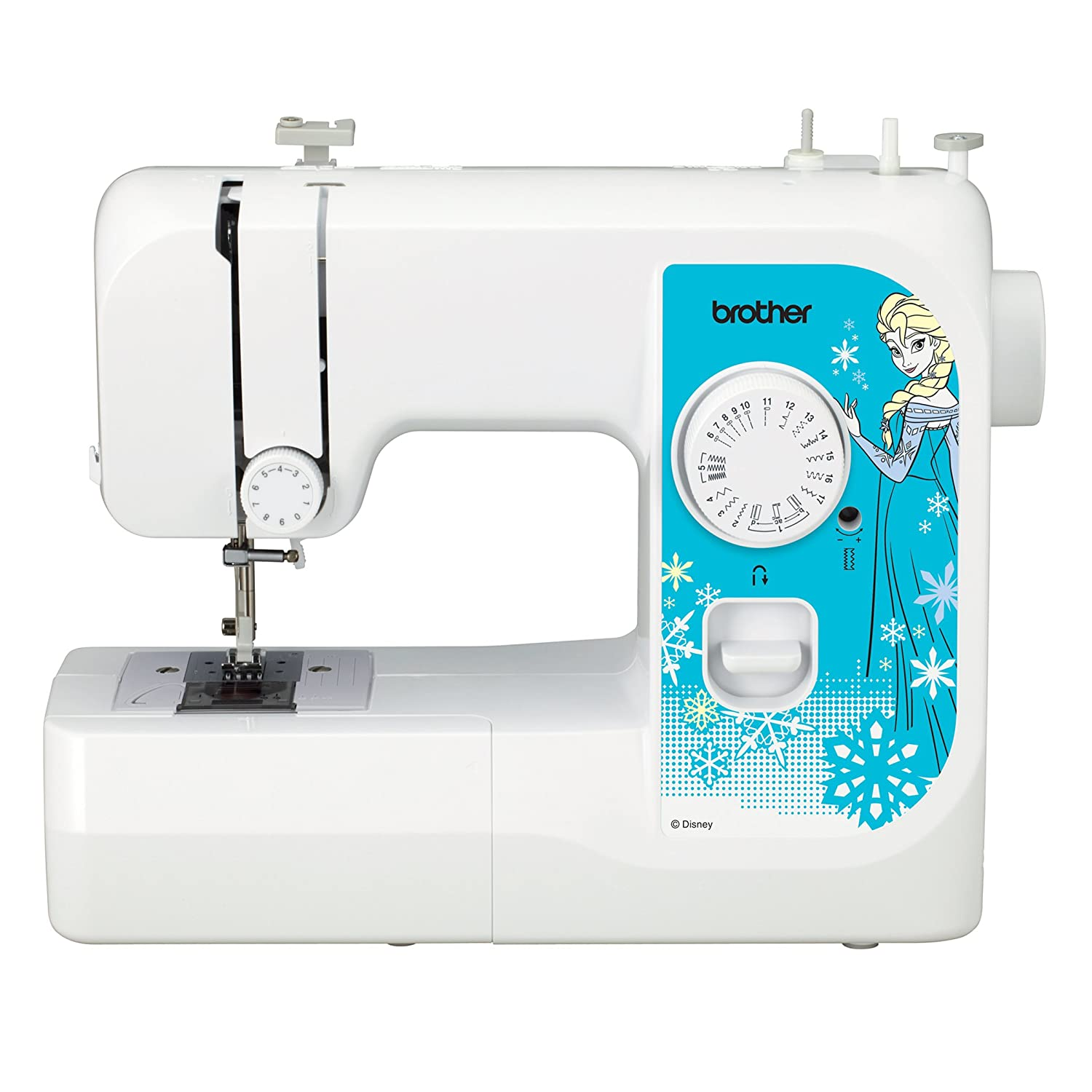 Amazon.com: Brother Sewing Machine, SM1738D, Sewing Machine with 4 Disney  Faceplates, 17 Built-in Stitches, Disney Dust Cover, 4 Sewing Feet, LED  Work Area