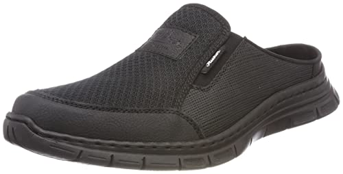 Mens B4879 Clogs, Black, 7.5 UK Rieker