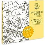 """OMY–Póster gigante para colorear """"Pyramid, papel, tamaño mediano), multicolor"""