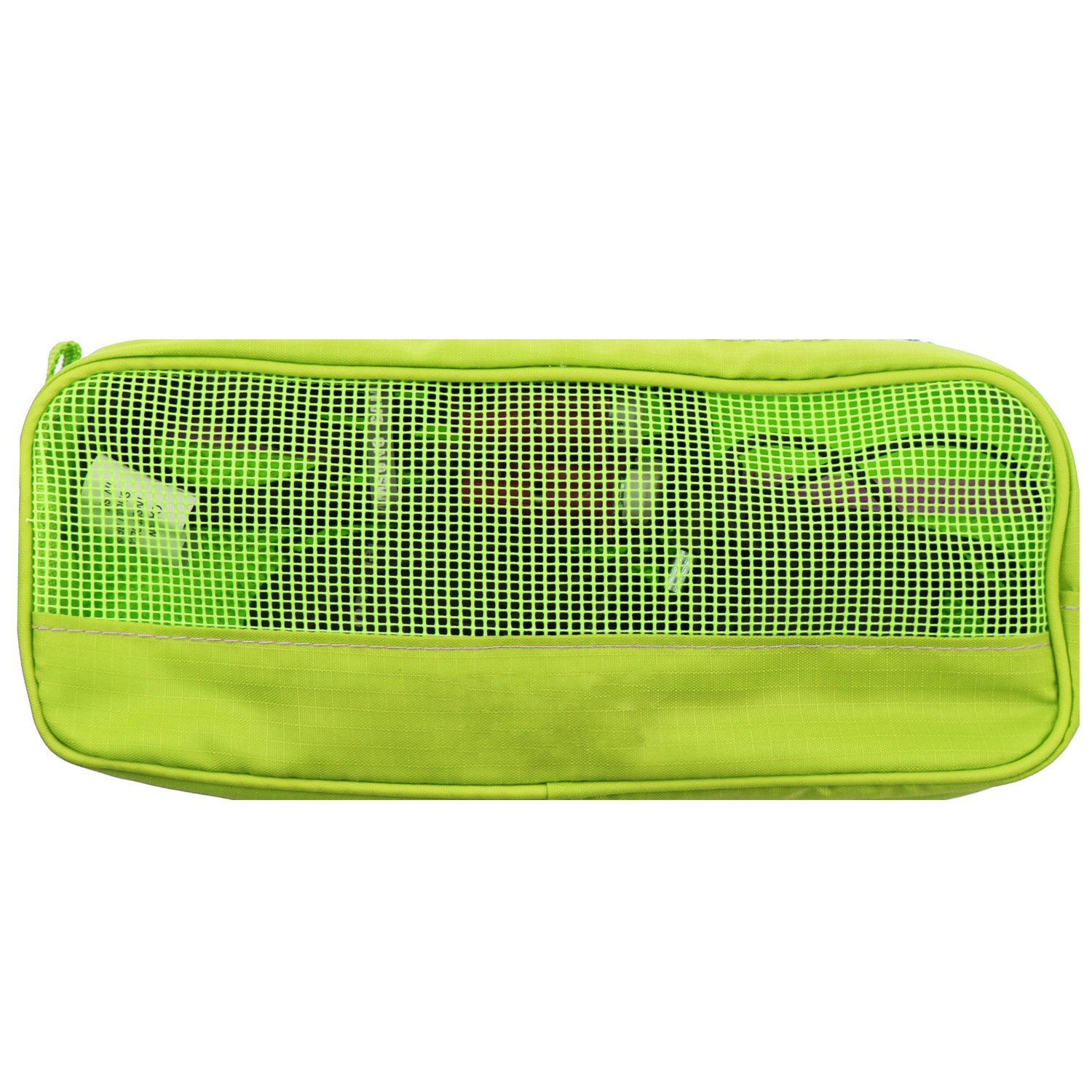 Nylon Slim Zipper Mesh Travel Organizer Carry Case Bag for Bluetooth, Wireless In-Car FM Transmitter, Adaptor, USB Charging, HDMI VGA Line In/Out Cable OTG Cord