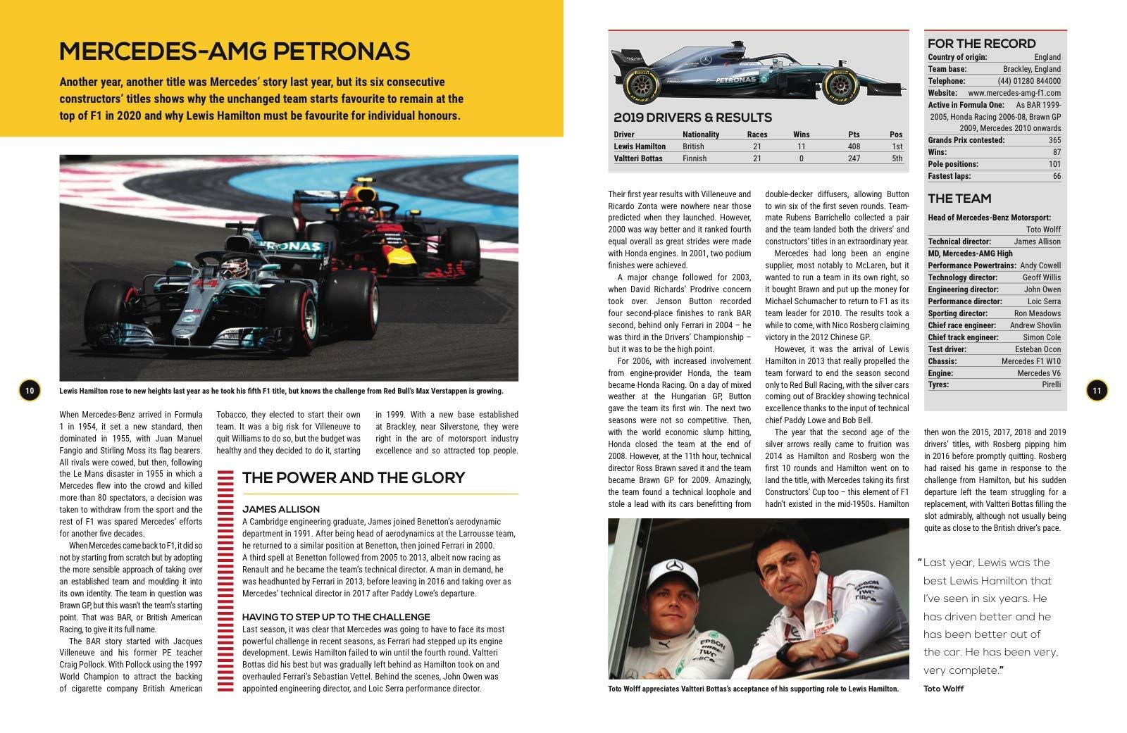 Formula One 2020: The Worlds Bestselling Grand Prix Handbook ...