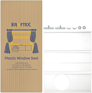 "Portable Air Conditioner Window Kit | AC Window Kit Seal for AC Hose with 5.9"" Diameter 