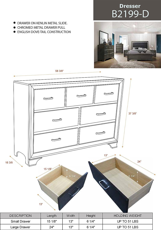 Amazon.com: Kings Brand Furniture Oceana - Cabecero de cama ...