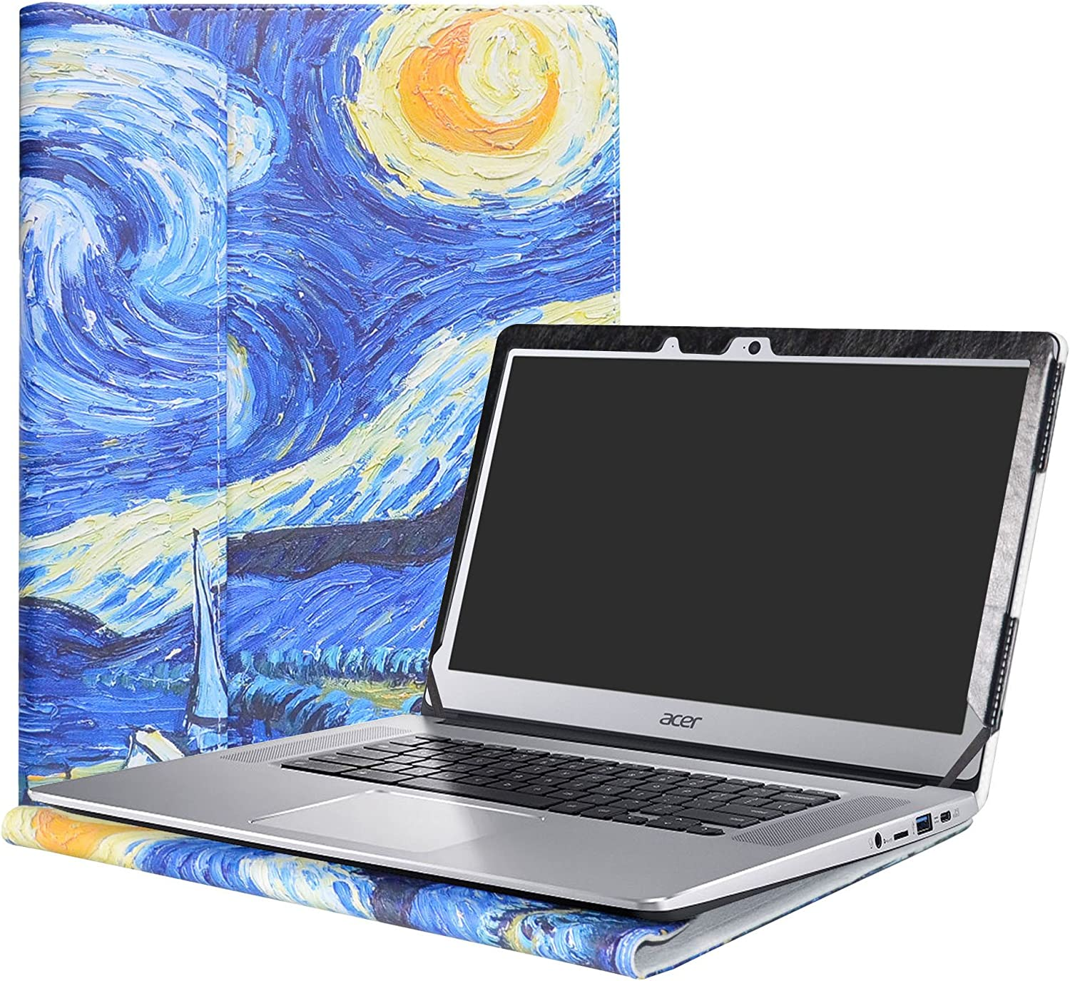 "Alapmk Protective Case Cover for 15.6"" Acer Chromebook 15 CB515-1HT Series Laptop (Such as CB515-1HT-P39B,NOT Compatible with Older C910/CB5-571/CB3-531 Series),Starry Night"