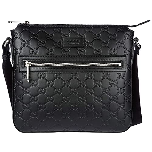 Gucci borsa uomo a tracolla borsello in pelle signature nero  Amazon.it   Scarpe e borse f62a651a9322