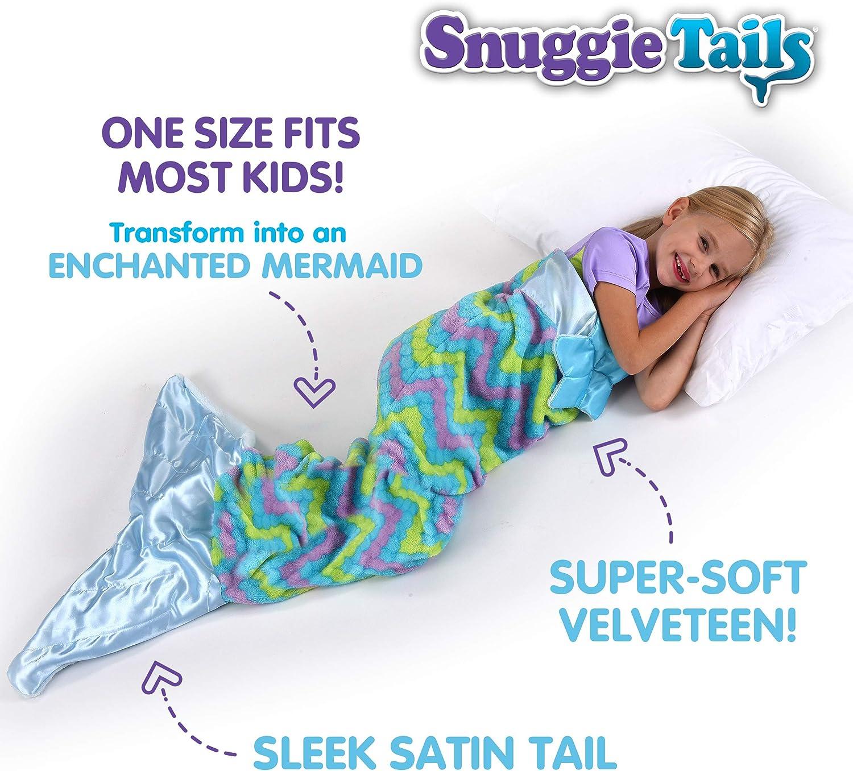 Warm Purple All Season Cozy Snuggie Tails Mermaid Blanket- Comfy Wearable Blanket for Kids As Seen on TV Super Soft