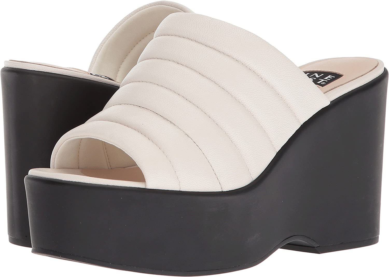 Nine West Womens Millie 40th Anniversary Platform Slide Sandal B079G4WL8K 10 B(M) US|Off-white Leather